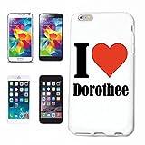 Reifen-Markt Etui pour téléphone Portable Compatible pour iPhone 6S I Love Dorothee - l'affaire du téléphone n'est Pas de Apple Produit ou Vendu