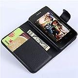 Alcatel One Touch POP D1 OT4018 Wallet Case, Premium PU