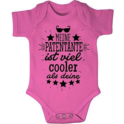 Mikalino Babybody kurzarm Meine Patentante ist viel cooler als deine v2 , Grösse:68, Farbe:pink