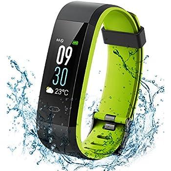 Montre Connectée Bracelet Connecté, Fitness Tracker Activité de Natation Étanche IP68, Montre Bracelet Électronique