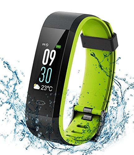 Montre Connectée Bracelet Connecté, Fitness Tracker Activité de Natation Étanche IP68, Montre...