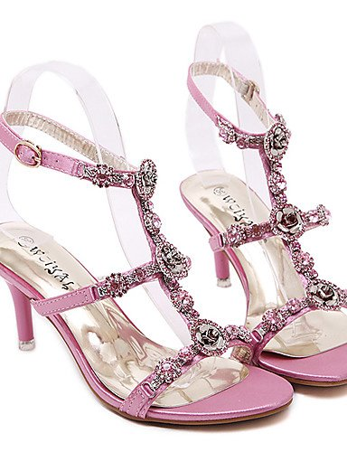 rosa Mandrin plateau open Comfort Donna Schuhe Sintetico Elegante Die Sandalen tacchi Uwszz Pink sandali Formale wPRzx