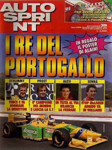 Autosprint Auto Sprint 39 Settembre Ottobre 1993 Prost Alesi Senna
