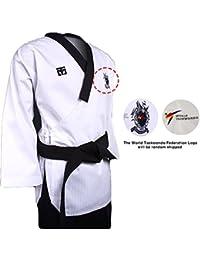 Mooto Poomsae Dan Uniforme dobok kukkiwon Coreano Taekwondo para Hombre 180(Altura: 180~