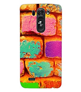ColourCraft Colourful Bricks Design Back Case Cover for LG G3 BEAT