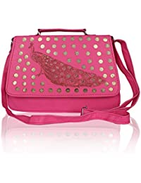 EDGEKART Stylish Shinning PU Leather Sling Bag For Women And Girls