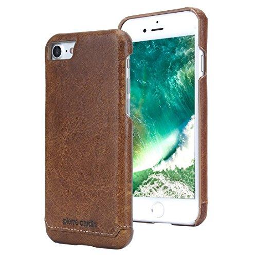 iPhone 7 Hülle, Pierre Cardin Premium Luxuriöser italienischer echtem Rindsleder Rückseitige Hartgehäuseabdeckung / Handyschutzhülle für Apple iPhone 7 4,7 Zoll, (Pierre Cardin Kostüme)