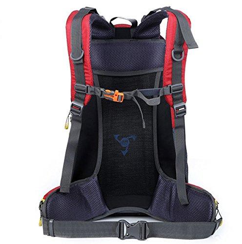 Sfeibo escursioni zaino Outdoor sport ciclismo Climming zaino Fashion Printing 40l nylon impermeabile borsa da viaggio Fit di 39,6cm, Orange Red