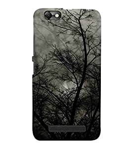 For Lenovo Vibe C :: Lenovo A2020 Tree, Black, Beautiful pattern, Amazing Pattern, Printed Designer Back Case Cover By CHAPLOOS