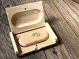 Chiavetta 32 gb, InciSo,acero legno USB flash drive con scatola di legno