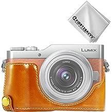 First2savvv PU cuir étui housse appareil photo numérique pour Panasonic Lumix DC-GF9.GX850.GX800 + Chiffon de nettoyage XJD-GF9-D09