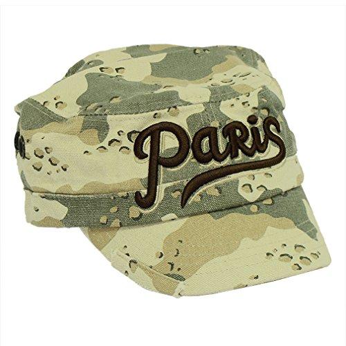Souvenirs de France - Casquette Cubaine Paris - Taille réglable - Couleur : Beige
