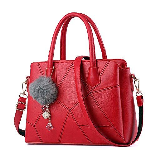 Mefly Nuova moda coreano borsetta borsa a tracolla diagonale marea All-Match Package Big Red Big red