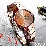 FENKOO Schöne Armbanduhren Uhr Wolfram Stahl Uhr Herrenuhr Quarzuhr ultradünne Uhr (Color : 4)