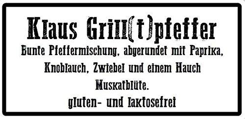 Klaus Grillt - Klaus Grill(t)pfeffer 100g Streuer