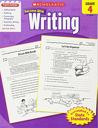 Scholastic Success with Writing, Grade 4 por Barbara Adams