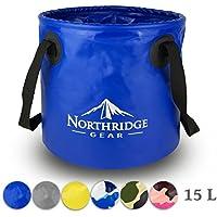 Cuenco plegable Cuenco plegable en diseño moderno Para camping, pesca, fiesta y jardín Puede ser utilizado como un tazón de lavado plegable, un recipiente de agua o un fregadero plegable [15L] (azul)