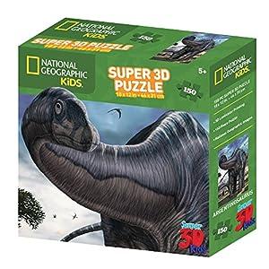 National Geographic NG10810 - Puzzle en 3D Kids Super Argentinosaurus (150 Piezas)