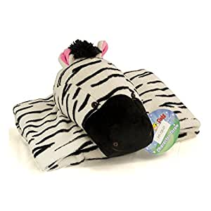 Official My Pillow Pet Plush Wiggly Zebra Blanket (30in X 40in Character Throw)