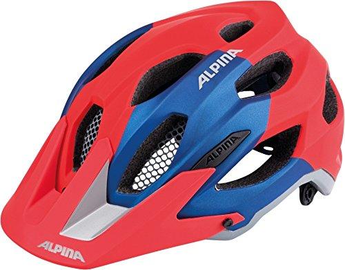 ALPINA Erwachsene Carapax Fahrradhelm red-Blue 57-62 cm