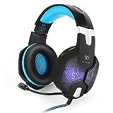 EasySMX G1000 Wired PC Gaming Headset con Microfono mic 3.5mm Audio Plug Retroilluminazione Multi Colore Controllo del Volume e...