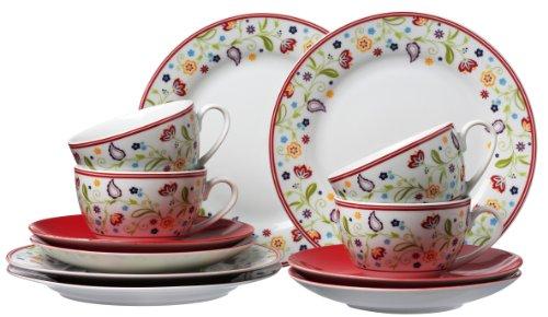 flirt geschirr weihnachten Ritzenhoff & Breker Kaffeeservice Doppio Shanti, 12-teilig, rot, Porzellangeschirr