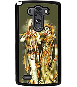 ColourCraft Lord Radha Krishan Design Back Case Cover for LG G3