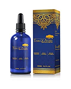 Argan Oil - Pure Organic Cold Pressed Produced and Bottled in Morocco - Perfect for Skin, Hair and Nail With High Vitamin E Content
