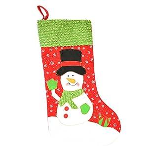 Gifts 4 All Occasions Limited SHATCHI-1384 - Calcetín navideño, diseño de Papá Noel, multicolor