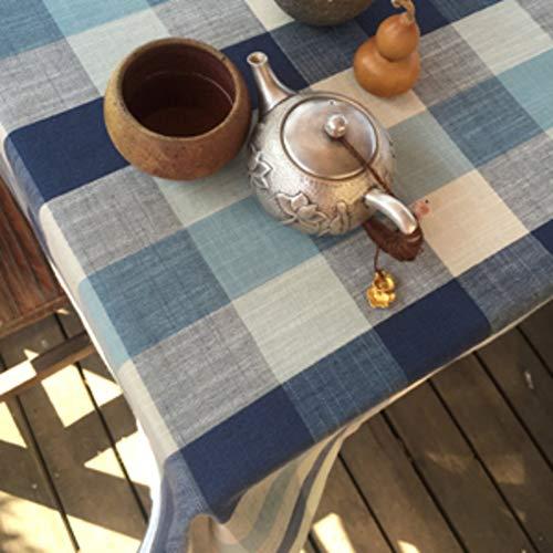Martinad Home Tischdecke Östliches Mittelmeer Tisch Tuch Stoff Baumwolle Leinen Unikat Ländlichen Stoff Baumwolle Leinen Moderne Landschaft Lattice Edge Teetisch Sauber Längliche Vintage Tischdecke 13 -