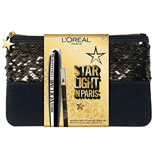 L'Oréal Paris MakeUp Kulturbeutel Mascara Volumisation Mega Volume Collagene und Augen MakeUp...