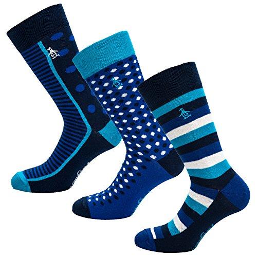 mens-original-penguin-mens-3-pack-spot-stripe-socks-in-blue-7-11