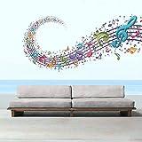StickMe 'Colourful Music Notes Wall Sticker' - SM 195 ( PVC Vinyl - 100cm X 55 Cm )