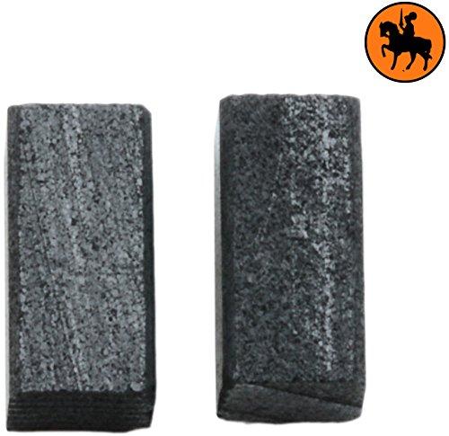 Spazzole di carbone BLACK & DECKER SPEC377A levigatrice -- 5x5x10mm -- 2.0x2.0x3.9''