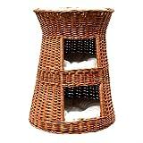 GalaDis 2-5-1 Großer hoher Katzenturm XL aus Weide mit DREI Kissen (Höhe: 65 cm) / Katzenkorb für eine o. Zwei Katzen/Katzenhöhle/Katzenbett (Kissen hell)