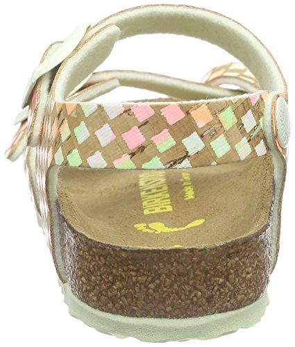 Birkenstock Taormina, Sandales Bride cheville fille Multicolore - Mehrfarbig (Pastel Pixel)