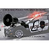 VOLGA ENTERPRISES (REGD.) Car and Bike Police Type Siren 3 Sounds with Speaking Mic (CBPTS3S-1)