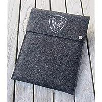 zigbaxx Tablet Hülle PLATZHIRSCH Case Sleeve Filz u.a. für iPad 9.7, iPad Pro 9,7/10,5/11 Zoll (2018), iPad mini 2/3/4, iPad Air, 100% Wollfilz pink schwarz beige grau braun - Geschenk Weihnachten