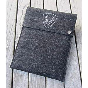 zigbaxx Tablet Hülle PLATZHIRSCH Case Sleeve Filz u.a. für iPad 9.7, iPad Pro 9,7/10,5/11 Zoll (2018), iPad mini 2/3/4, iPad Air, 100% Wollfilz pink schwarz beige grau braun – Geschenk Weihnachten