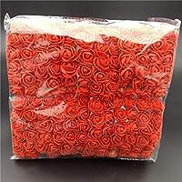 ASOSMOS 144 Pcs/Pack Mini Foam Artificial Rose Flower Bouquet Wedding Decor Craft Supplies