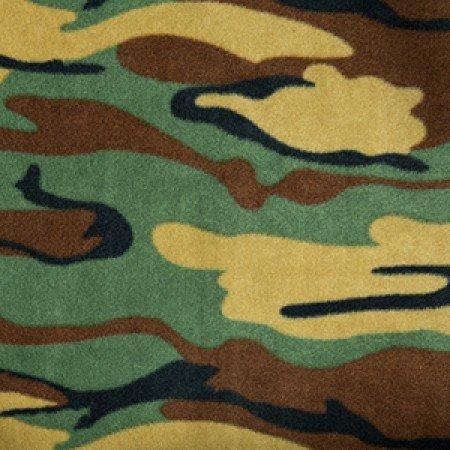 Brun Camouflage Polaire Molleton Matériau (Par Mètre)