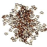hilai, mit Holz-Herzen, ideal zum Basteln, 10mm, ca. 100Stück