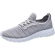 Calzado Deportivo Unisex, Otoño Invierno Zapatillas de Deporte Beathable Zapatos de Malla Zapatos