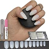 600 pezzi ovale Nails 10 misure - false nail tips Short Medium Full Cover naturale opaco acrilico unghie finte per saloni di manicure e nail art DIY - -senza colla