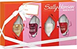Sally Hansen Complete Salon Manicure Nagellack Mini Set 1, Fools Gold, Let's Snow, Red My Lips, Wine Not, limited Xmas Edition, 20 ml