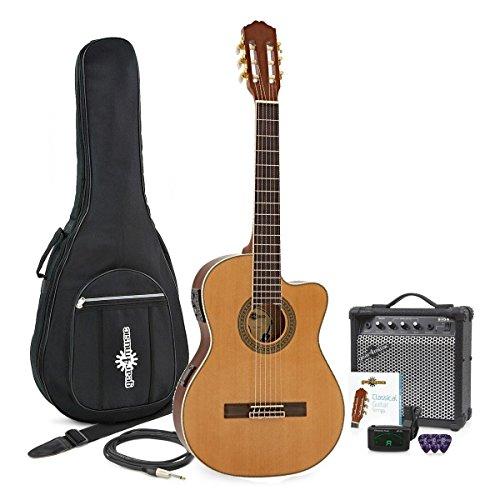 Chitarra classica Thinline Electro + Pacchetto con amplificatore da 15W