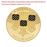 zijianZZJ Gedenkmünze, Rare In God We Trust Medal of Honor Liberty Commemorative Challenge Coin Gold Plated