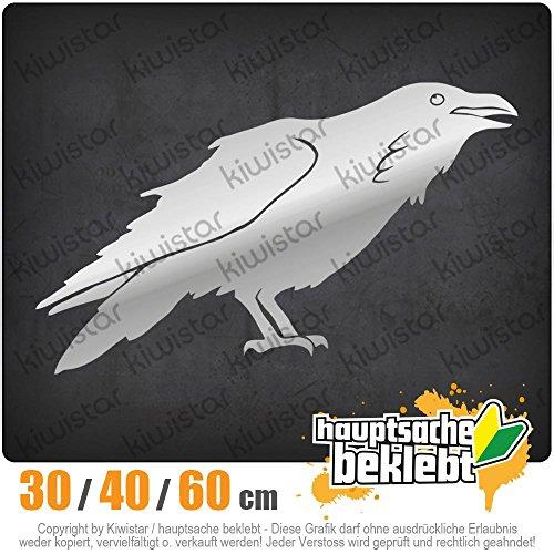 Preisvergleich Produktbild KIWISTAR - Rabe Krähen Corvus Heckscheibe in 15 FARBEN Aufkleber Sticker