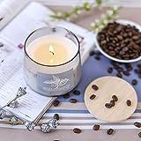 Supreme Lights Bougie Parfumée en 100% Naturel Cire de Noix de Coco Bougies en Pot avec Couvercle (Smoky Bergamote)