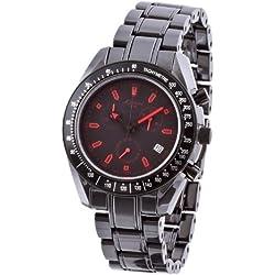 M. Johansson NaxosB Men's Quartz Ceramic Chronograph ISA SWISS Cal.8171 Wrist Watch